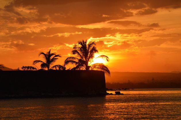 Sunset Lake Nicaragua