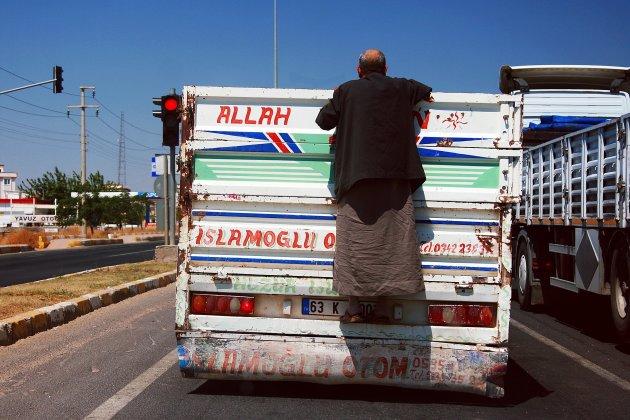 de weg op in Turkije