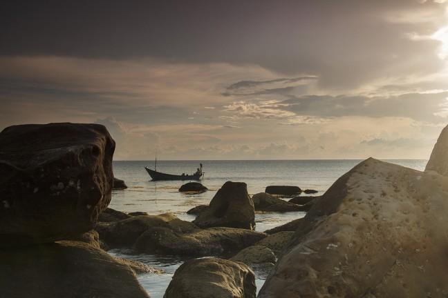 Zonsondergang op Phu Quoc eiland