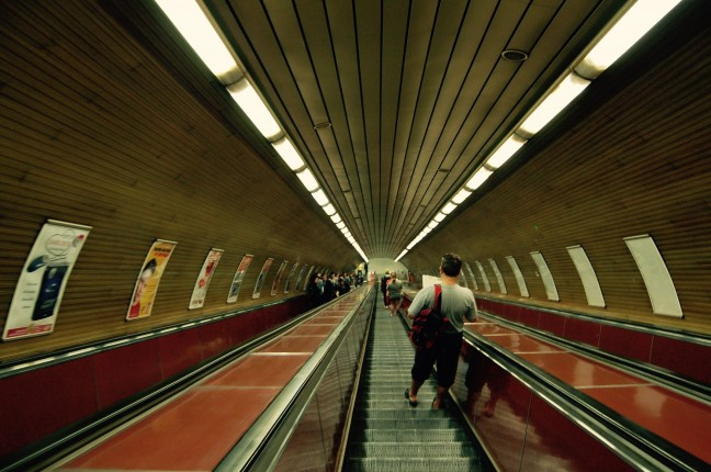 Langste Roltrap, metro Praag