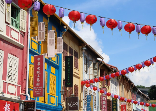 Colorful Chinatown in Singapore