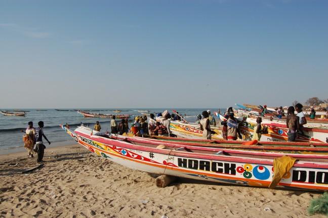 Gambia Vissers boten.
