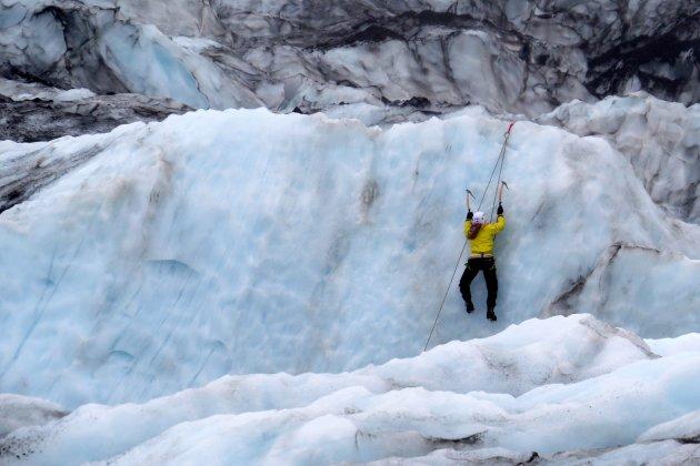 op de gletsjer