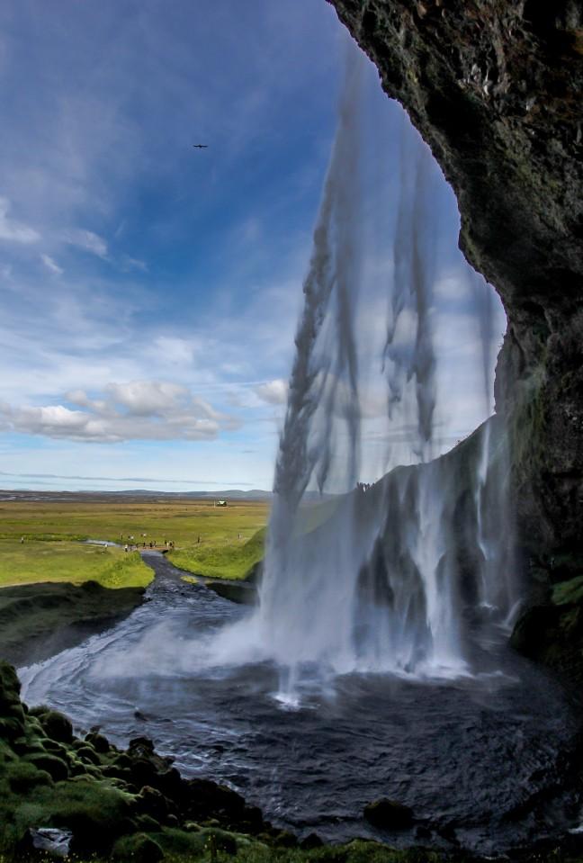 De waterval van Seljalands