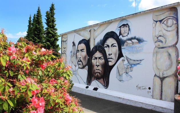 De stad van de muurschilderingen Chemainus