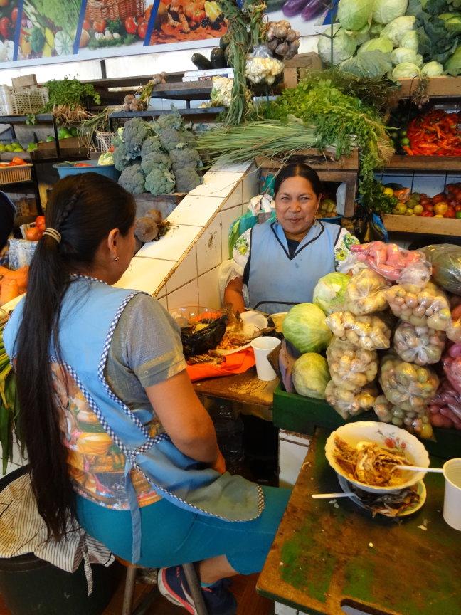 Lunchtijd op de markt