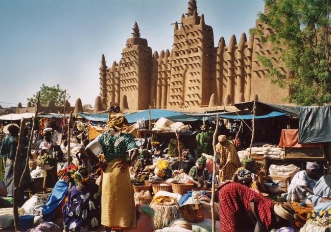 markt in Djenne