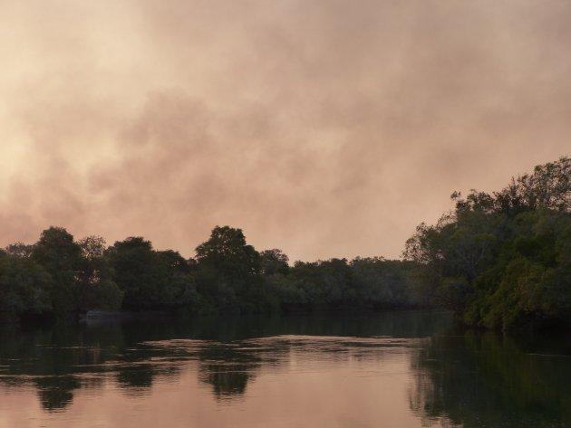 Bosbrand in Kafue NP