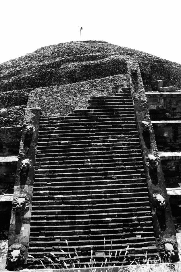 Ruïne bij Teotihuacan