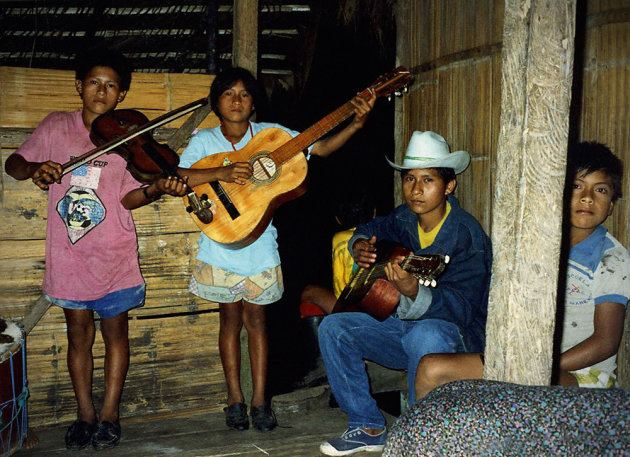 Muziekavond in de Amazone