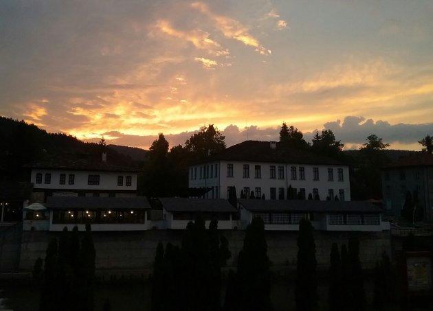 Mooie avond in Troyan, Bulgarije