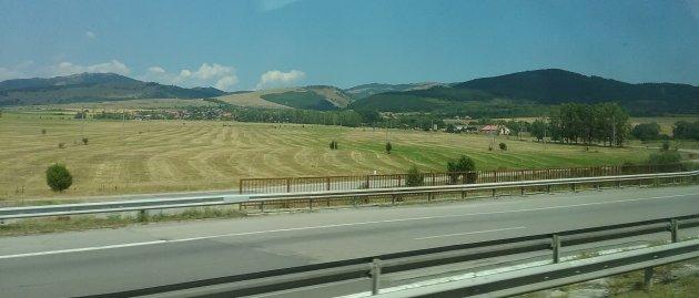 Landschap in de Stara Planina, Bulgarije