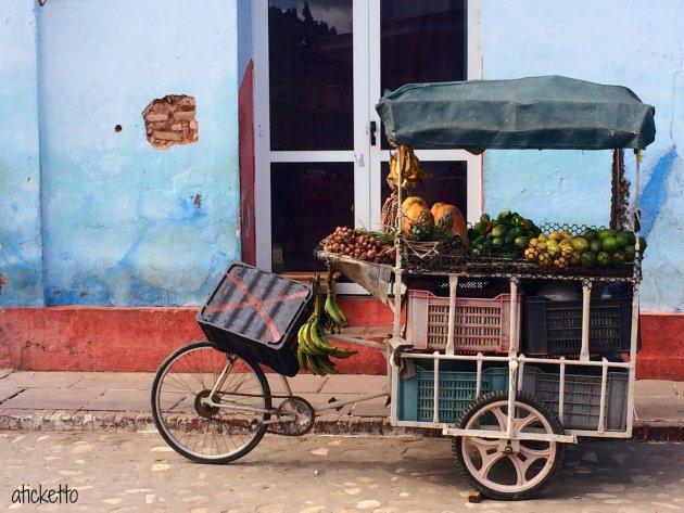 Groentekar op z'n Cubaans