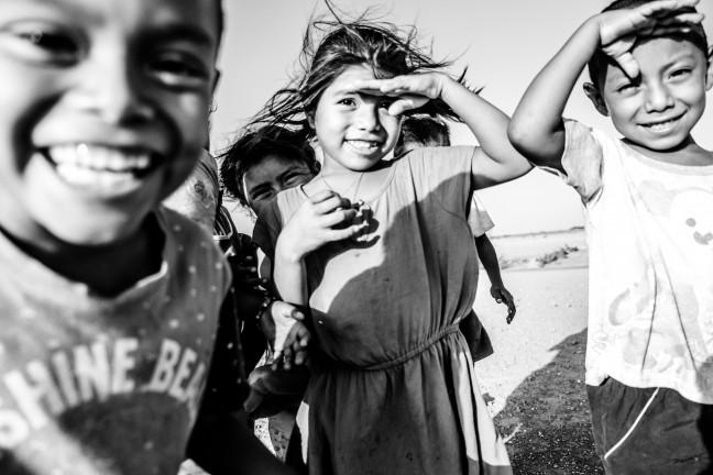 Indigenous children in Punta Gallinas