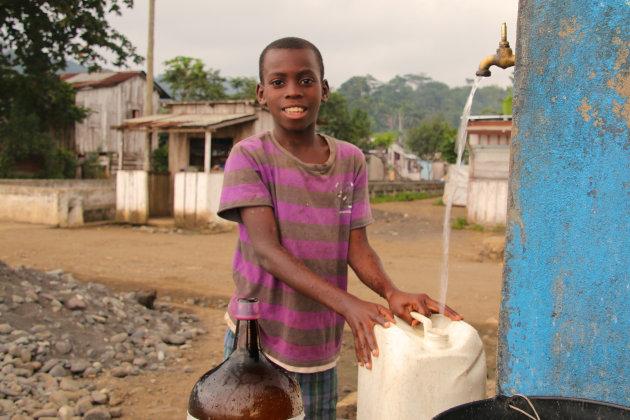 water halen in Ribeira Afonso