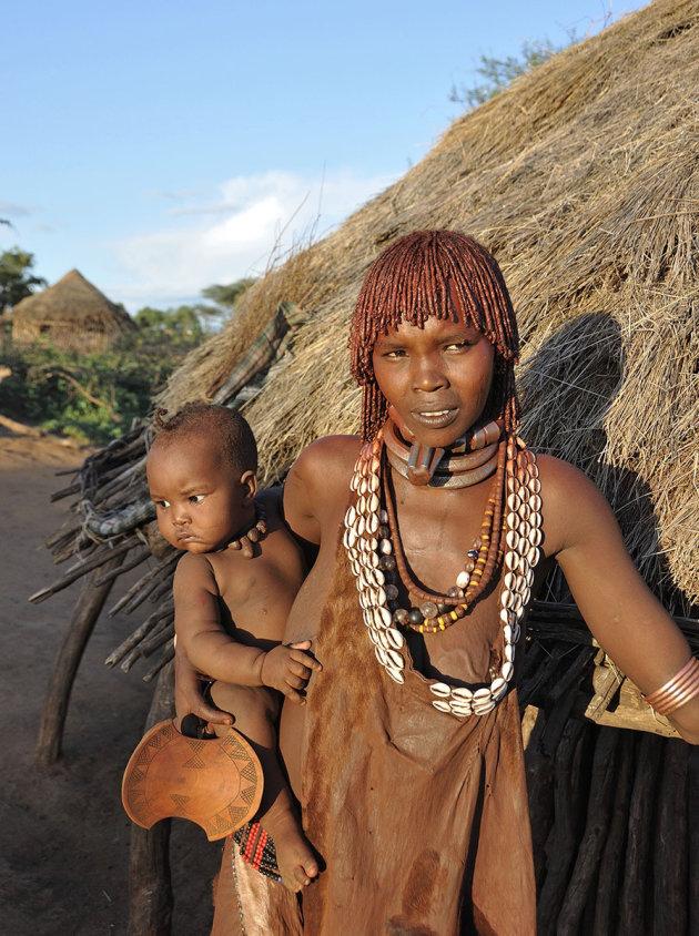 Hamarvrouw met haar kind