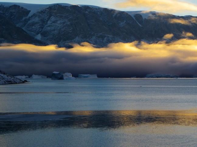 Ochtendgloren in Oost Groenland