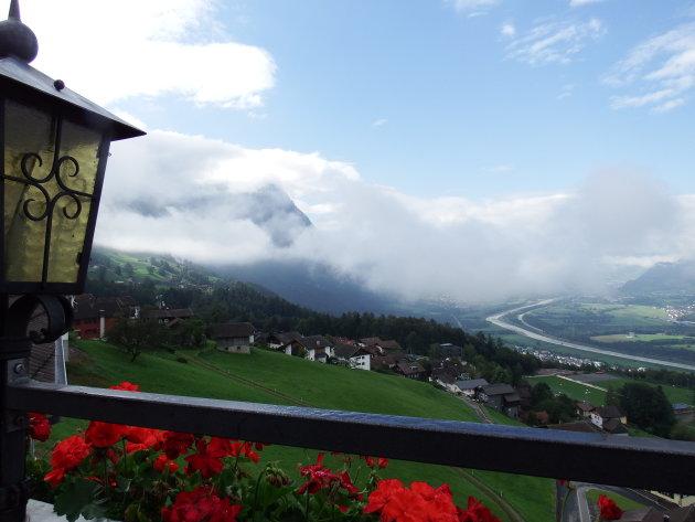 Triesenberg - Liechtenstein - tussen de wolken
