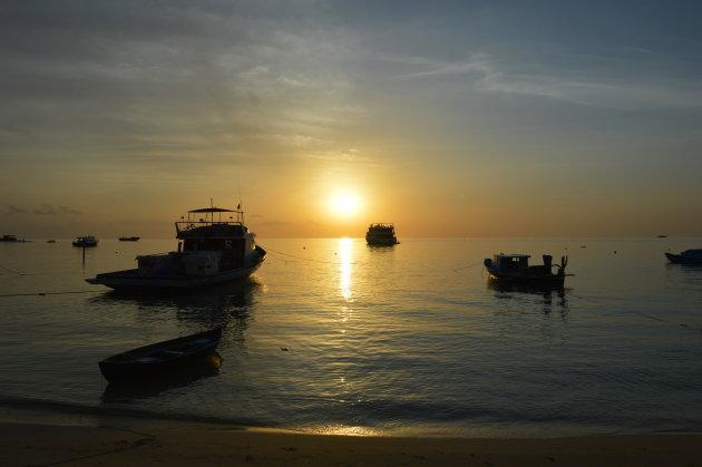 Zonsondergang Malediven