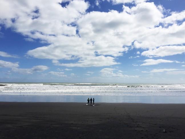whitewash and black sand