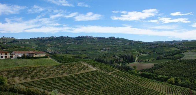 Uitzicht over omgeving Grinzane Cavour