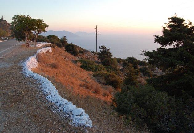 Zonsondergang Samos