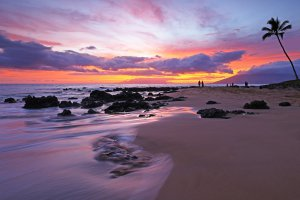 Zonsondergang op Hawaii