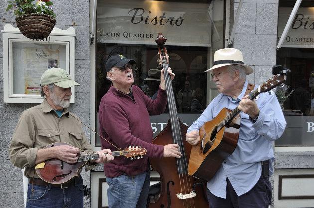 Straatmuzikanten in Galway