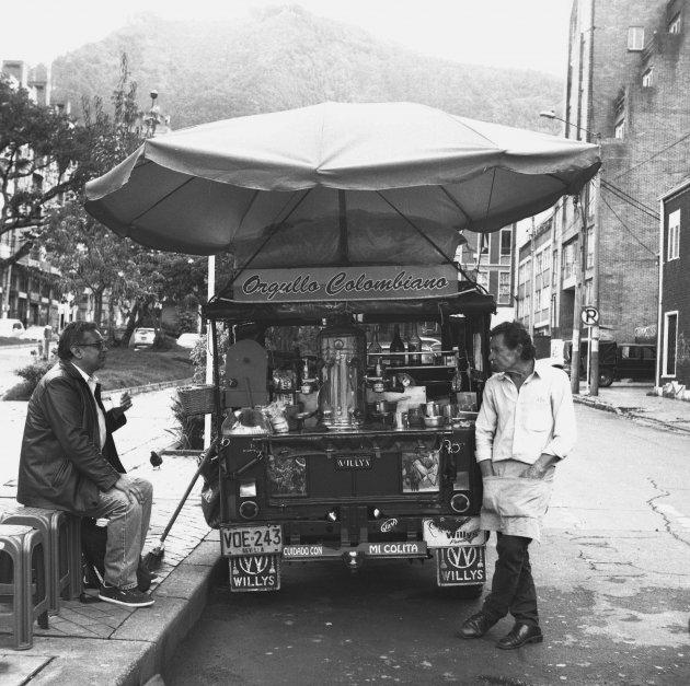 Koffie verkoper in Colombia