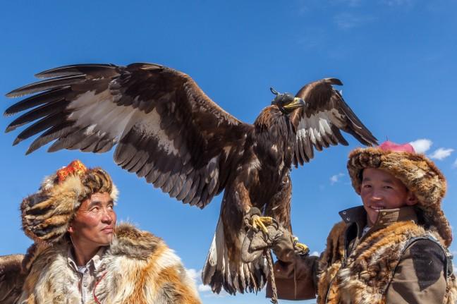 'Eagle hunters' in de Altai