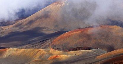 Wandelen door de Haleakala vulkaankrater