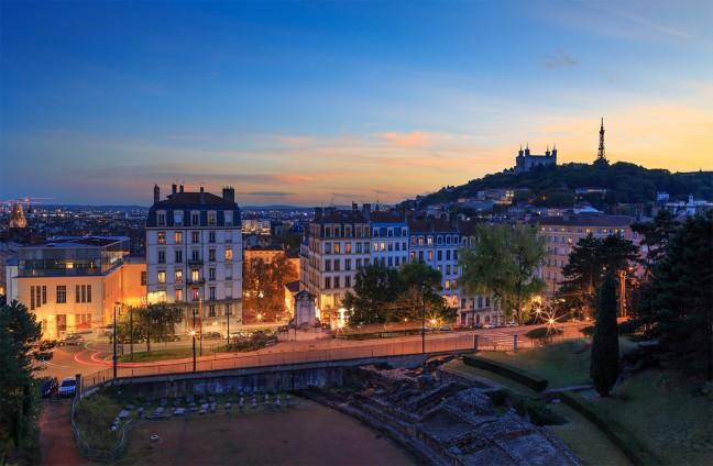 Lyon met uitzicht op Fourviere.