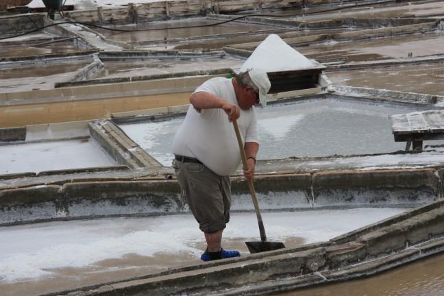 ambachtelijke zoutwinning in Rio Maior