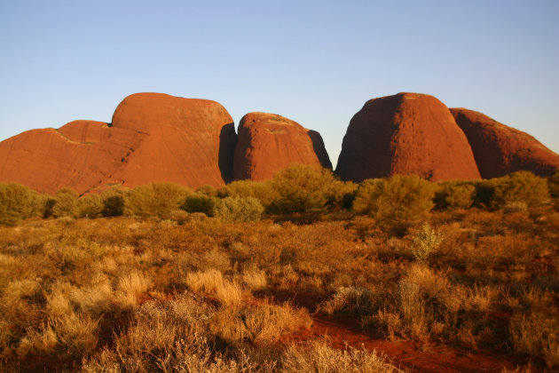 Kata Tjuta in de late avondzon
