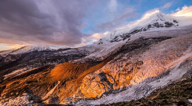 Beklimmen van Hualcan mountain in Peru