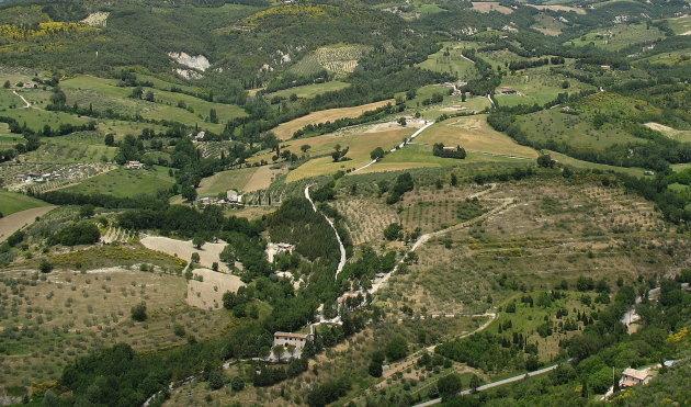 Umbrisch landschap rond Assisi