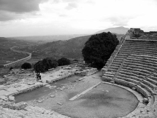 Grieks theater met uitzicht
