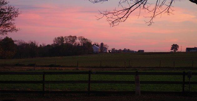 Zonsondergang in Lancaster County