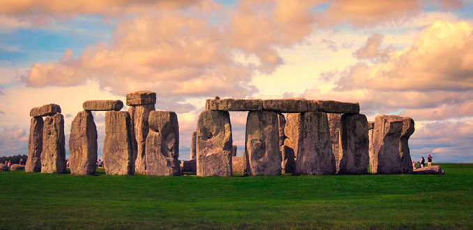 Stappen rondom Stonehenge