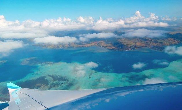 Uitzicht op Mauritius