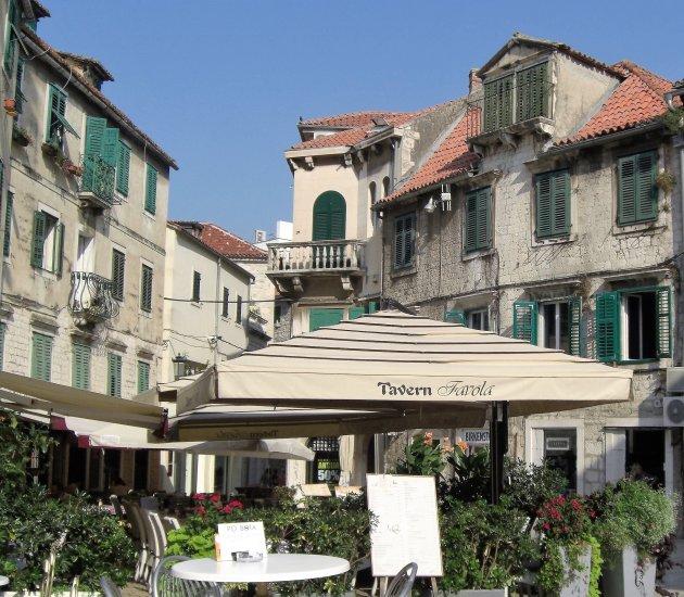 Typisch Kroatisch stadsbeeld