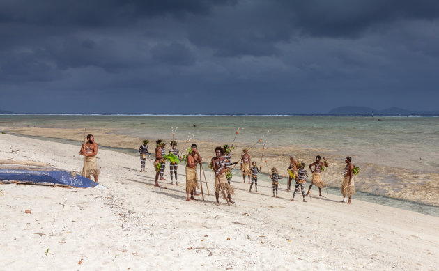 Op het strand van Rah