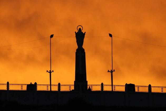 De hemel in brand