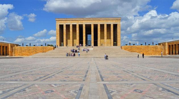 Het mausoleum in Ankara