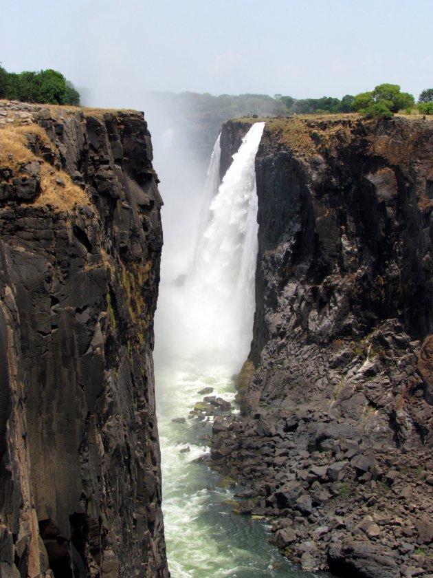 Victoria Falls met laag water