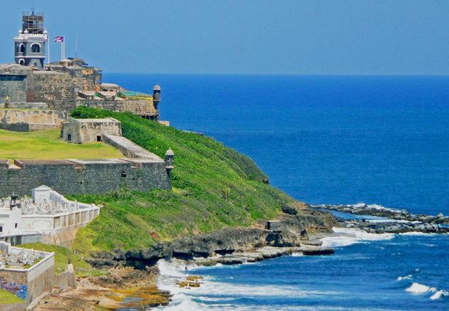 De kust van Puerto Rico