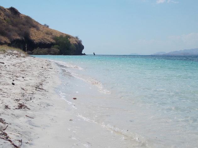 Een mooi verlaten strandje op Flores