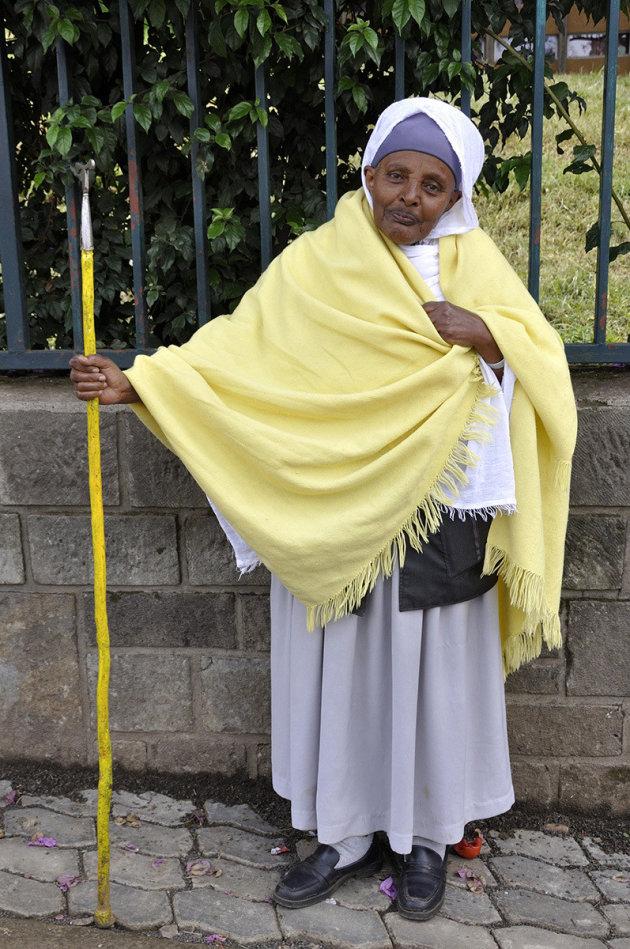 Levende engel in Addis Abeba