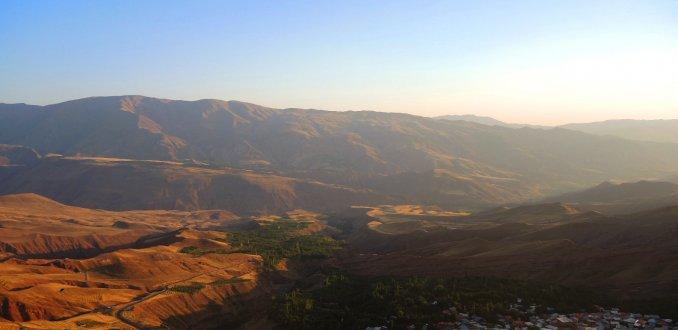 Oasis landschappen in plaats van droge woestijnen