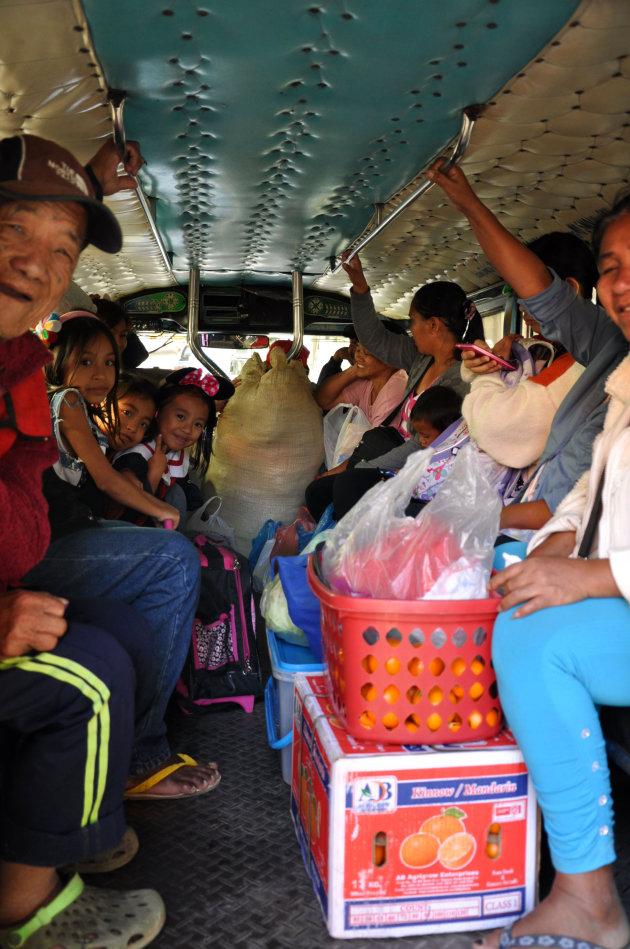 In de jeepney